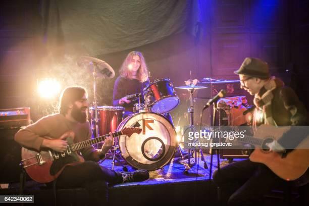 Rock band live performance