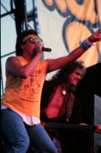 Rock band Loverboy performs in Minnesota in July of 1985