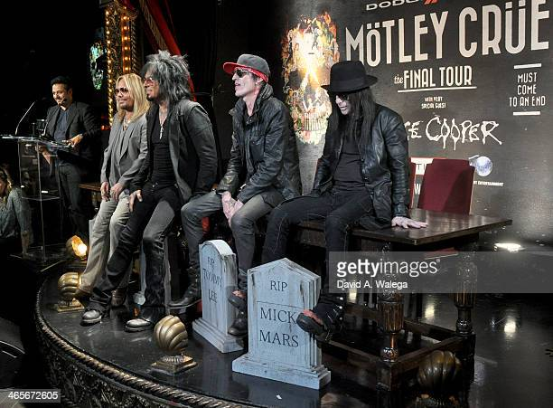 Rock band Motley Crue announce their concert tour 'The Last Tour' during a press conference at Beacher's Madhouse on January 28 2014 in Hollywood...