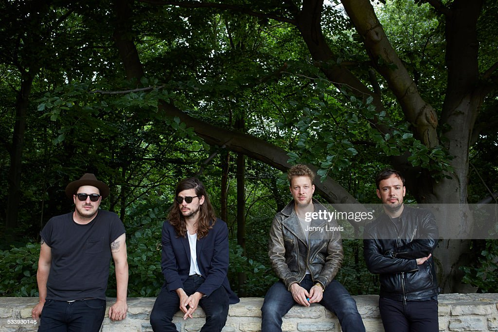 Rock band Mumford & Sons are photographed for the Telegraph on July 17, 2015 in London, England.