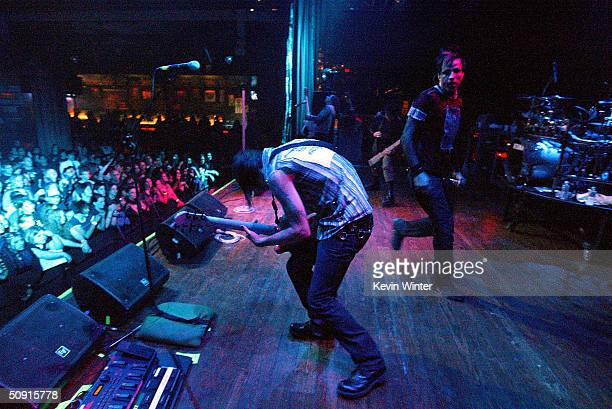 Rock band Orgy performs at the House of Blues on May 30 2004 in Las Vagas Nevada