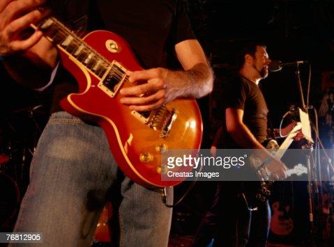 Rock band performing : Stock-Foto
