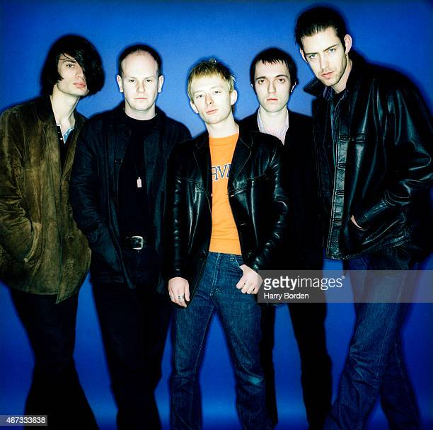 Rock band Radiohead are photographed for Select magazine on February 1 1995 in London England