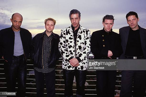 Rock band Rammstein and friend pose for a portrait in Los Angeles California on December 14 1997