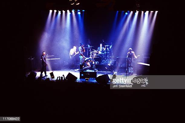 Rock band Rammstein performs at the Palace in Los Angeles California on April 27 1998