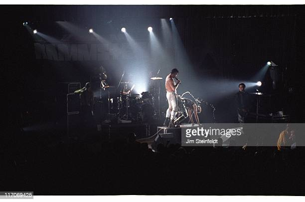 Rock band Rammstein performs at the Palladium in Los Angeles California on December 14 1997