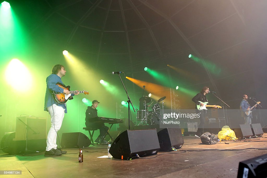 US Rock band Real Estate performs at Rock in Rio Lisboa 2016 music festival in Lisbon, Portugal on May 28, 2016. Photo: Pedro Fiuza