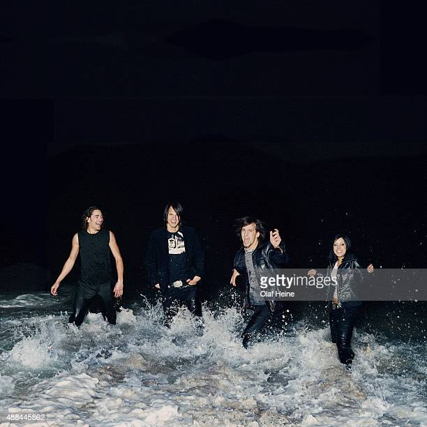 Rock band Silbermond are photographed on February 11 2006 in Barcelona Spain