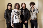 Rock band The Darkness are photographed on February 16 2011 in Brighton England