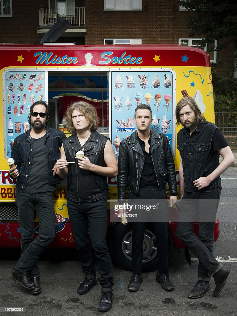 Rock band <a gi-track='captionPersonalityLinkClicked' href=/galleries/search?phrase=The+Killers+-+Band&family=editorial&specificpeople=3954390 ng-click='$event.stopPropagation()'>The Killers</a> are photographed for the Independent on August 28, 2012 in London, England.