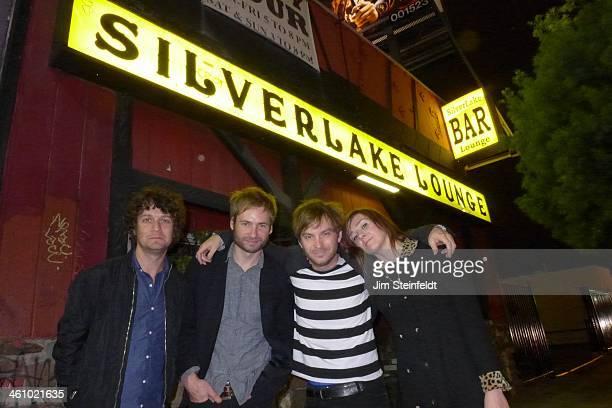 Rock band The Melismatics Ron Carondrums Mark Wadebass Ryan Smithvocals/guitar 'Pony' Kathie Hixon Smithvocals/guitar/keyboards at the Silver Lake...