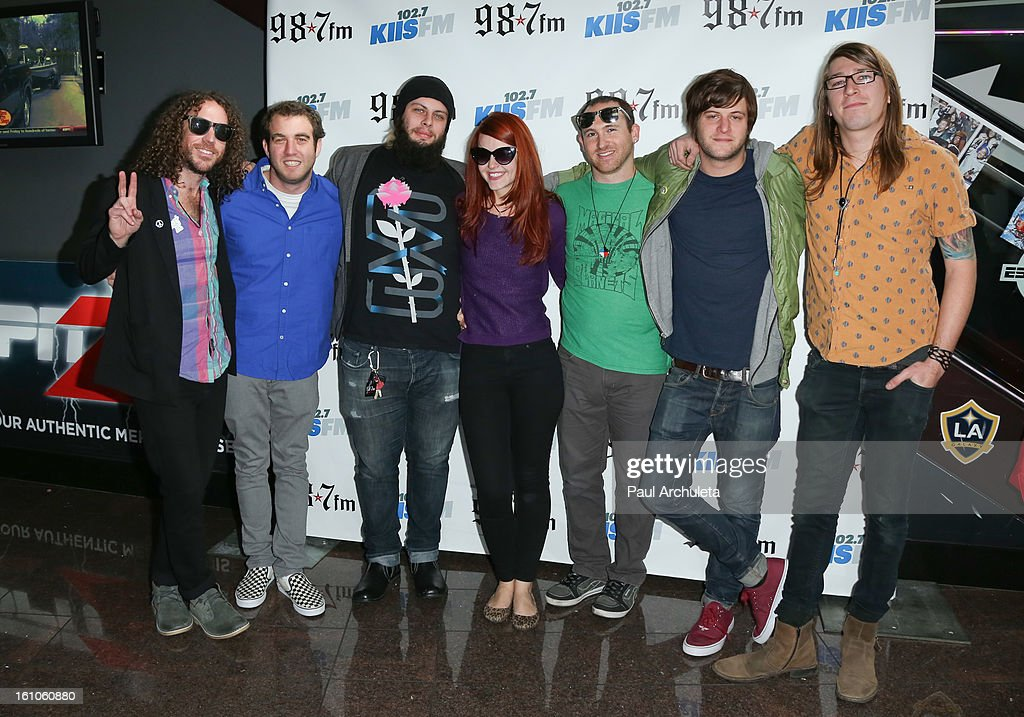 Rock Band The MowgliÕs attend the 102.7 KIIS FM and 98.7 5th annual celebrity artist lounge celebrating the 55th Annual GRAMMYS at ESPN Zone At L.A. Live on February 8, 2013 in Los Angeles, California.