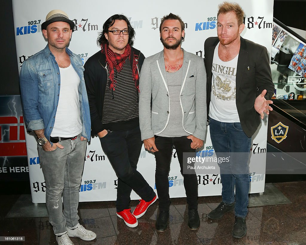 Rock Band The Parlotones attends the 102.7 KIIS FM and 98.7 5th annual celebrity artist lounge celebrating the 55th Annual GRAMMYS at ESPN Zone At L.A. Live on February 8, 2013 in Los Angeles, California.
