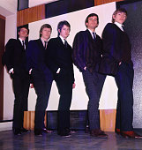 Rock band 'The Yardbirds' pose for a portrait in 1964 in England Paul SamwellSmith Chris Dreja Eric Clapton Jim McCarty and Keith Relf