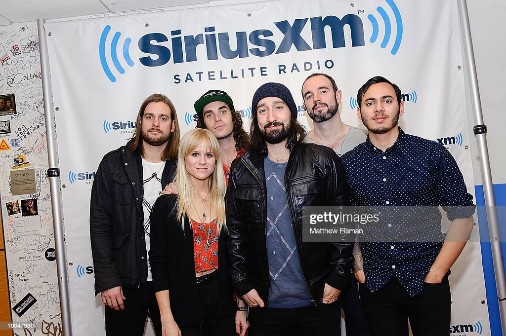Rock band Youngblood Hawke visits SiriusXM Studios on February 1, 2013 in New York City.