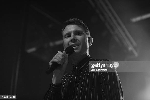 Rock bands Franz Ferdinand and Sparks combine to form the band FFS Alex Karpanos performs at The Observatory in Santa Ana California on October 14...