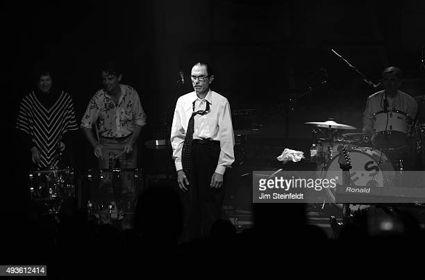 Rock bands Franz Ferdinand and Sparks combine to form the band FFS Russell Mael Nick McCarthy Ron Mael Paul Thomson perform at The Observatory in...