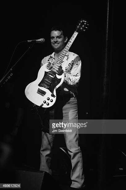 Rock bands Franz Ferdinand and Sparks combine to form the band FFS Nick McCarthy performs at The Observatory in Santa Ana California on October 14...