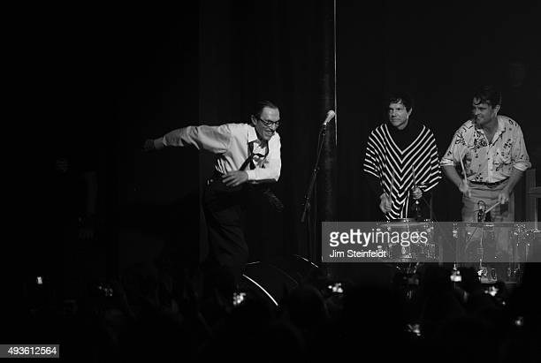 Rock bands Franz Ferdinand and Sparks combine to form the band FFS Ron Mael Russell Mael Nick McCarthy perform at The Observatory in Santa Ana...