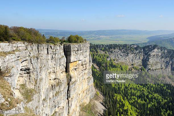 Rock basin of the Creux du Van, the oldest nature reserve in Switzerland, Jura, Neuch??tel, Switzerland, Europe