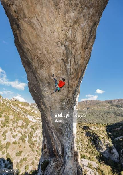 Kletterer in Rodellar Aragon Spanien