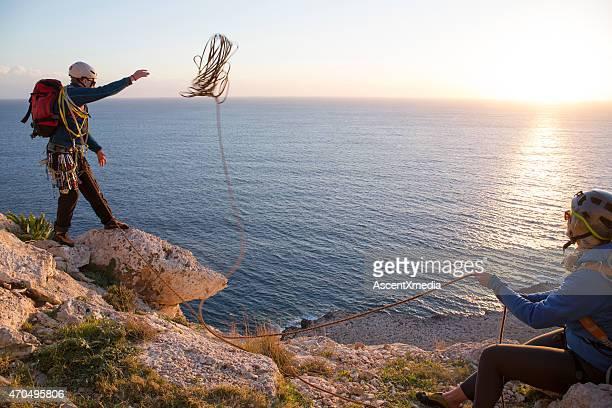 Escaladeur plaids corde de falaise pour rappel