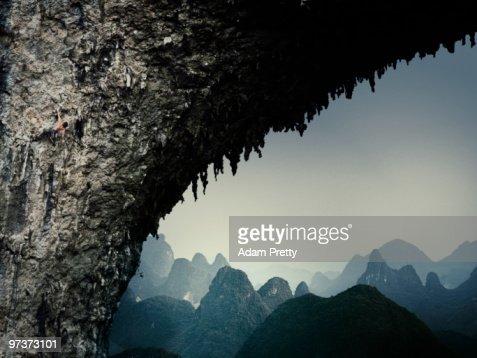 Rock Climbing at Moon Hill : Stock Photo