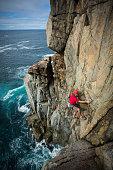 Rock climbing, Cole Bay, Frecyinet, Tasmania, Australia