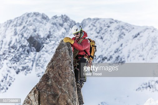 Rock climbing in the Austrian Alps