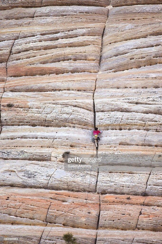 Rock Climbing Zion : Stock Photo
