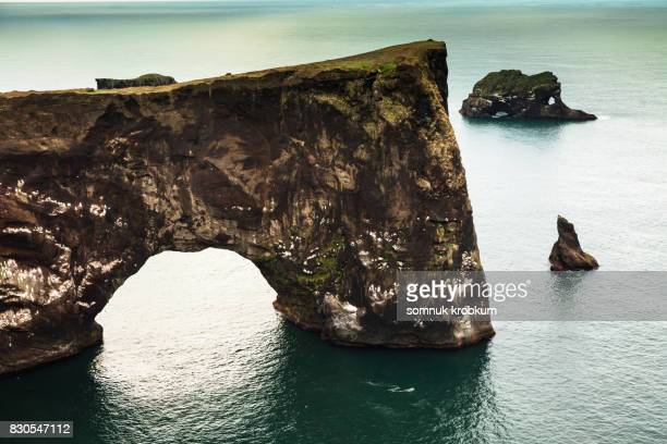 Rock coastal and cliff in summer;Iceland