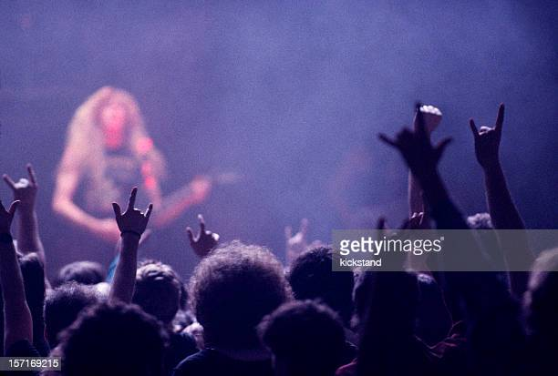 Rock concert audience