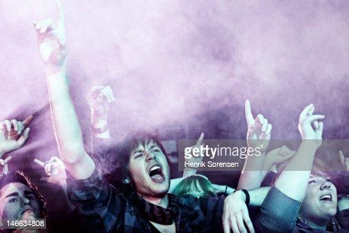 Rock concert : Bildbanksbilder