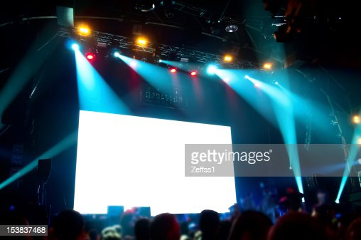 Rock concert, white screen isolated. (clipping path) : Stock Photo