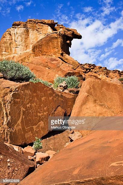 Rock engravings, Twyfelfontein, Damaraland, Namibia, Africa