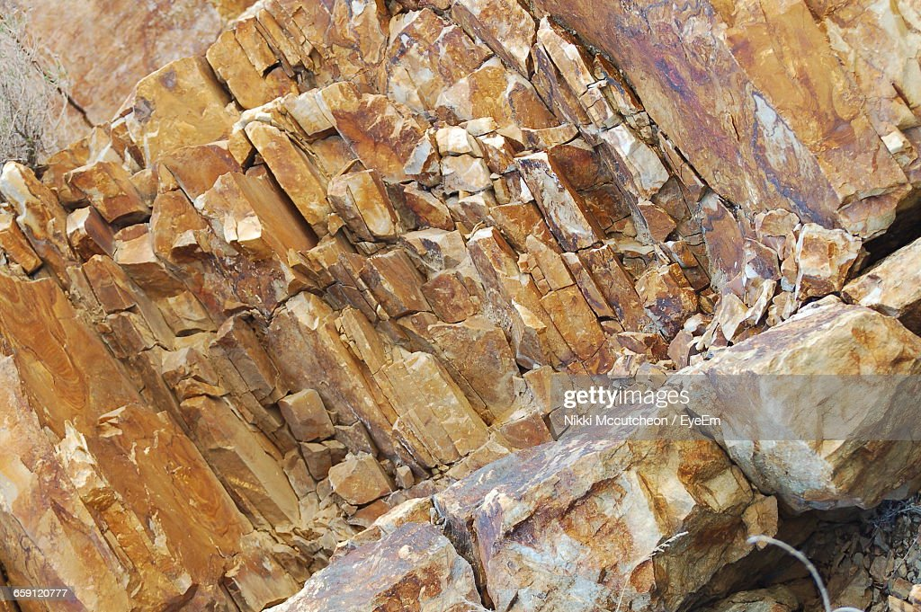 Rock Formation At Big Cottonwood Canyon