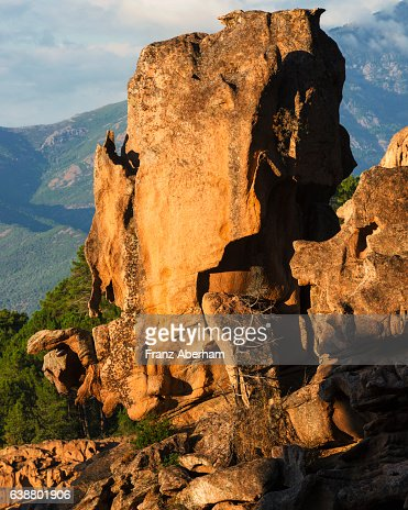 Rock formation at the Calanche of Piana, Corsica