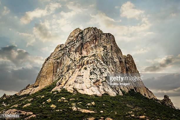 Rock formation on rural hilltop, San Sebastian Bernal, Queretano, Mexico
