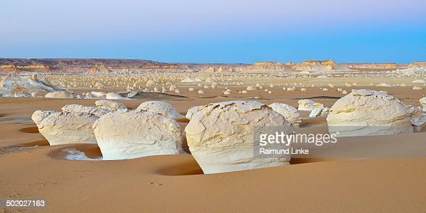 Rock Formations at Dusk in the White Desert