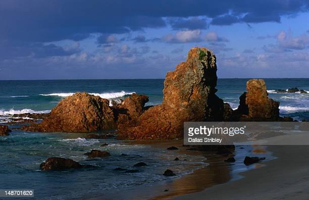 Rock formations at Flynns Beach.