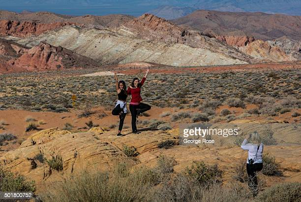 Rock formations at the Valley of Fire Nevada's first and oldest State Park are viewed on December 8 2015 near Las Vegas Nevada The Valley of Fire...
