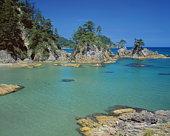 Rock formations by the sea,  Uradome-kaigan,  Iwami-machi,  Tottori Prefecture,  Japan