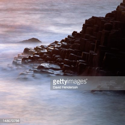 Rock formations cloaked in fog : Stock Photo