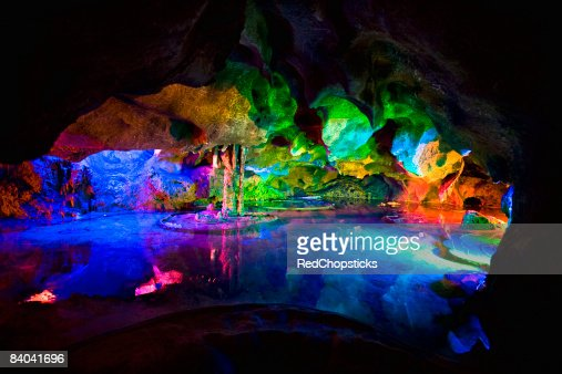 Rock formations in a cave, Lotus cave, XingPing, Yangshuo, Guangxi Province, China