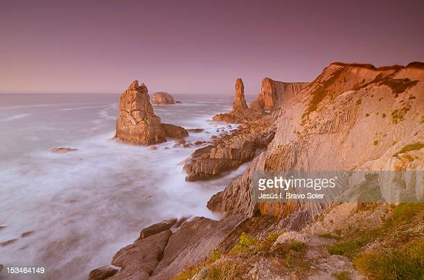 Rock formations in cliffs of Liencrs
