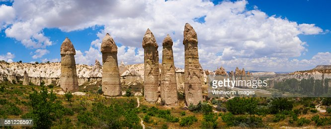 Rock formations in Love valley Cappadocia Turkey