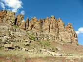 Rock formations in the Eastern Oregon desert, USA