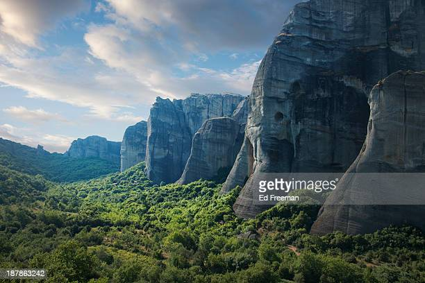 Rock Formations in the Meteora, Greece