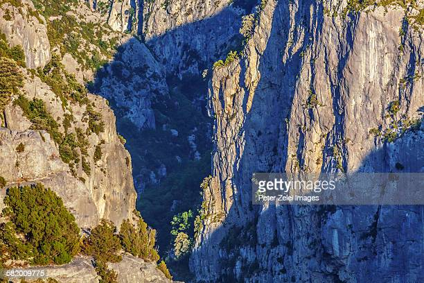 Rock formations in the Verdon Gorge, France