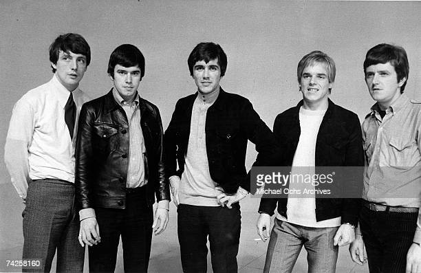 Rock group 'Dave Clark 5' pose for a portrait in circa 1966 Mike Smith Denis 'Denny' Payton Dave Clark Lenny Davidson Rick Huxley